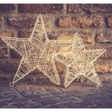 30 Led Stern Fenster 30cm Acryl Weihnachtsbeleuchtung Innen Stern Deko Weihnachtsdeko Fenster Beleuchtet Weihnachtsstern Batteriebetrieben - 7
