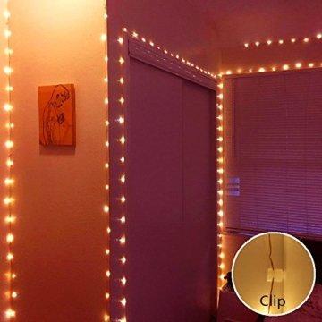 30M LED Lichterkette, Speclux 300 LED Kupferdraht Lichterkette Warmweiß mit Fernbedienung IP65 Wasserdicht Weihnachtsbeleuchtung Innen und Aussen für Weihnachten, Hochzeit, Party, Zuhause, Fenster - 4