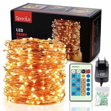 30M LED Lichterkette, Speclux 300 LED Kupferdraht Lichterkette Warmweiß mit Fernbedienung IP65 Wasserdicht Weihnachtsbeleuchtung Innen und Aussen für Weihnachten, Hochzeit, Party, Zuhause, Fenster - 1