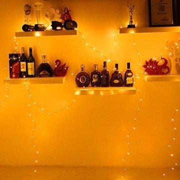 30M LED Lichterkette, Speclux 300 LED Kupferdraht Lichterkette Warmweiß mit Fernbedienung IP65 Wasserdicht Weihnachtsbeleuchtung Innen und Aussen für Weihnachten, Hochzeit, Party, Zuhause, Fenster - 6