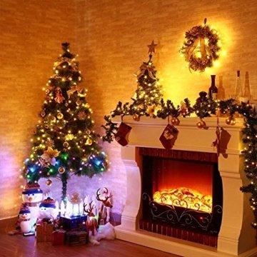 30M LED Lichterkette, Speclux 300 LED Kupferdraht Lichterkette Warmweiß mit Fernbedienung IP65 Wasserdicht Weihnachtsbeleuchtung Innen und Aussen für Weihnachten, Hochzeit, Party, Zuhause, Fenster - 7