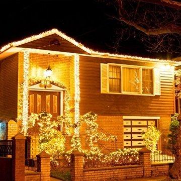 30M LED Lichterkette, Speclux 300 LED Kupferdraht Lichterkette Warmweiß mit Fernbedienung IP65 Wasserdicht Weihnachtsbeleuchtung Innen und Aussen für Weihnachten, Hochzeit, Party, Zuhause, Fenster - 8