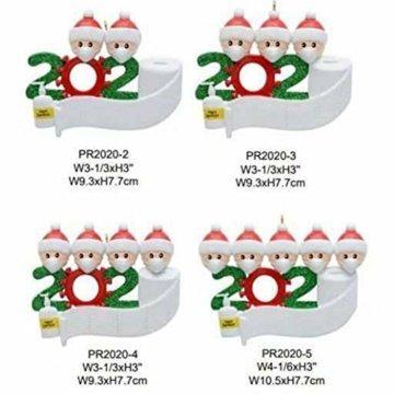3D dreidimensional Deko Ideen Weihnachten,2020 Personalisierte Überlebende Familie Von 2, 3, 4, 5 Weihnachten 2020 Feiertags Deko DIY Name Segen Harz Schneemann Weihnachtsbaum Hängen Anhänger - 4