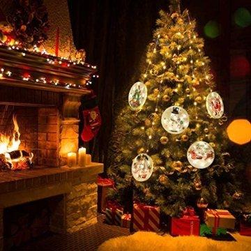 3D LED Wasserdichte Vorhang Lichterketten 4,4ft mit 8 Modi, Fernbedienung, Hochhelle Perlen sind Langlebig und Energiesparend, Geeignet für Weihnachten, Halloween Indoor/Outdoor Window Shop Dekoration - 2