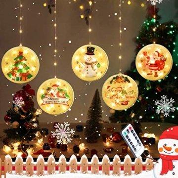 3D LED Wasserdichte Vorhang Lichterketten 4,4ft mit 8 Modi, Fernbedienung, Hochhelle Perlen sind Langlebig und Energiesparend, Geeignet für Weihnachten, Halloween Indoor/Outdoor Window Shop Dekoration - 1
