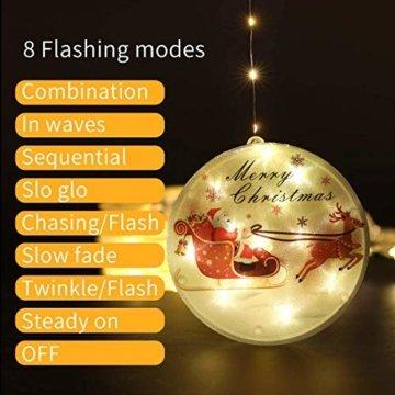 3D LED Wasserdichte Vorhang Lichterketten 4,4ft mit 8 Modi, Fernbedienung, Hochhelle Perlen sind Langlebig und Energiesparend, Geeignet für Weihnachten, Halloween Indoor/Outdoor Window Shop Dekoration - 6