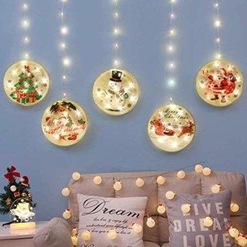 3D LED Wasserdichte Vorhang Lichterketten 4,4ft mit 8 Modi, Fernbedienung, Hochhelle Perlen sind Langlebig und Energiesparend, Geeignet für Weihnachten, Halloween Indoor/Outdoor Window Shop Dekoration - 8