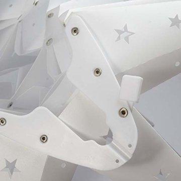 3D Weihnachtsstern Außen Batterie Timer - LED Adventsstern Stern, Fenster Stern Deko, Partys Oder Weihnachten Dekoration, Für Innenhof, Balkon Und Garten(58cm) - Qijieda-Weiß - 3