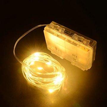 3D Weihnachtsstern Außen Batterie Timer - LED Adventsstern Stern, Fenster Stern Deko, Partys Oder Weihnachten Dekoration, Für Innenhof, Balkon Und Garten(58cm) - Qijieda-Weiß - 6
