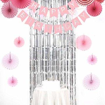 6 Stück Lametta Vorhänge, Folie Vorhang Silber, Glitzer Vorhängen Dekoration für Party Hochzeit Geburtstags Weihnachten Fotokabine Türvorhang Deko (1m x 2m) - 5