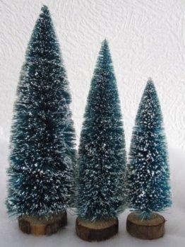 6 x Deko Tannenbäume mit Schnee für die Modelleisenbahn in drei Größen - 1