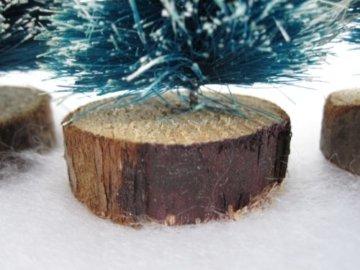 6 x Deko Tannenbäume mit Schnee für die Modelleisenbahn in drei Größen - 3
