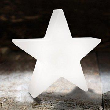 8 seasons design| Kleiner LED Stern Shining Star Micro XS (9,5 cm, Neu mit Batterie-Schutzfolie, kabellos, Dekostern, Sterngeschenk, Mitbringsel) weiß - 3
