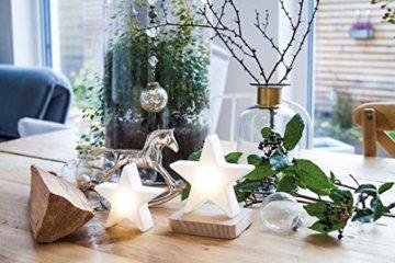 8 seasons design| Kleiner LED Stern Shining Star Micro XS (9,5 cm, Neu mit Batterie-Schutzfolie, kabellos, Dekostern, Sterngeschenk, Mitbringsel) weiß - 4