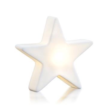 8 seasons design| Kleiner LED Stern Shining Star Micro XS (9,5 cm, Neu mit Batterie-Schutzfolie, kabellos, Dekostern, Sterngeschenk, Mitbringsel) weiß - 1