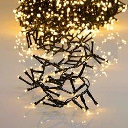 800er LED Lichterkette warmweiß mit 8 Programmen LEDs für Innen und Außen - 1