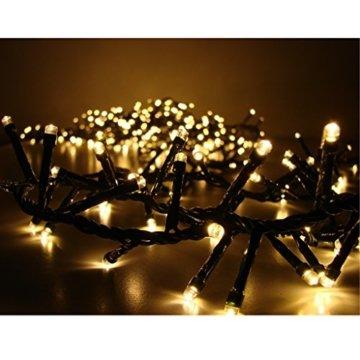800er LED Lichterkette warmweiß mit 8 Programmen LEDs für Innen und Außen - 2