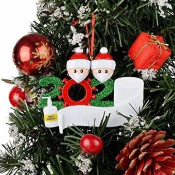 About1988 2020 Christbaumschmuck Weihnachten Anhänger, Weihnachtsmann Christbaumschmuck aus Weihnachtskugel, Baumschmuck Weihnachtsanhänger DIY Mitbringsel Weihnachtsferien Dekorationen Anhänger (A) - 2