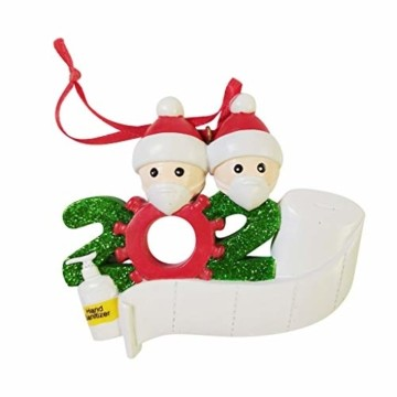About1988 2020 Christbaumschmuck Weihnachten Anhänger, Weihnachtsmann Christbaumschmuck aus Weihnachtskugel, Baumschmuck Weihnachtsanhänger DIY Mitbringsel Weihnachtsferien Dekorationen Anhänger (A) - 4
