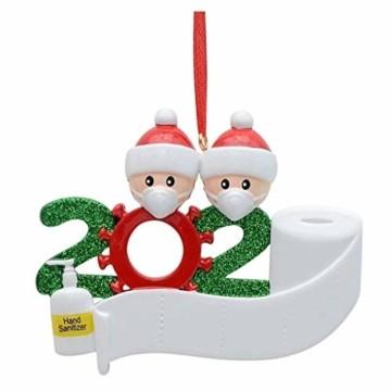 About1988 2020 Christbaumschmuck Weihnachten Anhänger, Weihnachtsmann Christbaumschmuck aus Weihnachtskugel, Baumschmuck Weihnachtsanhänger DIY Mitbringsel Weihnachtsferien Dekorationen Anhänger (A) - 1