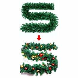 About1988 Künstliche Weihnachtsgirlande Tannengirlande, Weihnachten Girlande Weihnachtsdeko, Tannengirlande, Weihnachtsdeko Türkranz für Innen und Außen (1PC) - 1