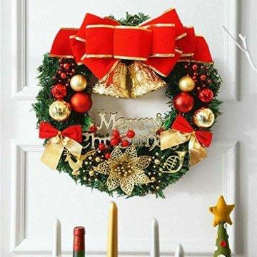 About1988 Künstliche Weihnachtsgirlande Tannengirlande, Weihnachten Girlande Weihnachtsdeko, Tannengirlande, Weihnachtsdeko Türkranz für Innen und Außen (1PC) - 5