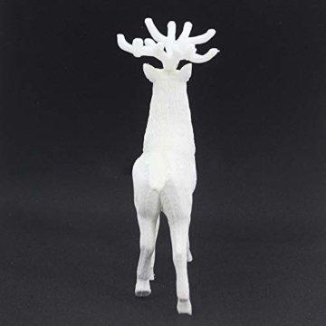 About1988 Rentierpuppe, Tischdekoration, Elche Deko Hirsch weiß, Weißer Hirsch Weihnachten Weihnachten Rentier Kid, Tierliebhaber oder Jagdfreund Figur Skulptur Figur Rentier Weihnachten Winter (1PC) - 4