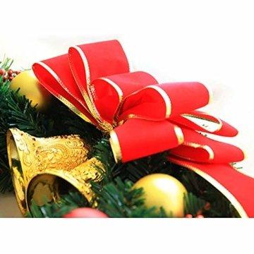 AcserGery Weihnachtskranz mit Kugel, Schleife, Weihnachten Dekor - 7