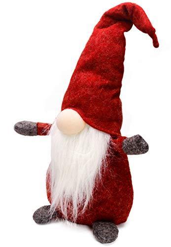 Airlab Weihnachten Deko Wichtel 49 cm Hoch, Schwedischen Weihnachtsmann Santa Tomte Gnom, Festliche Verpackung, Skandinavischer Zwerg Geschenke für Kinder Familie Weihnachten Freunde, Rot - 2