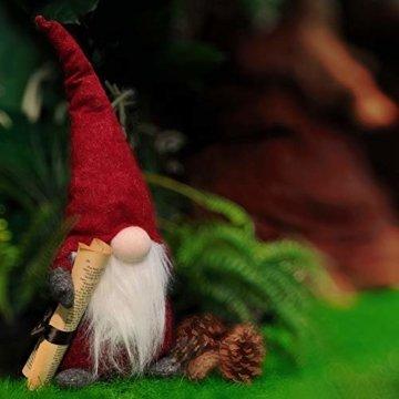 Airlab Weihnachten Deko Wichtel 49 cm Hoch, Schwedischen Weihnachtsmann Santa Tomte Gnom, Festliche Verpackung, Skandinavischer Zwerg Geschenke für Kinder Familie Weihnachten Freunde, Rot - 4