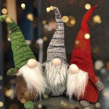 Airlab Weihnachten Deko Wichtel 49 cm Hoch, Schwedischen Weihnachtsmann Santa Tomte Gnom, Festliche Verpackung, Skandinavischer Zwerg Geschenke für Kinder Familie Weihnachten Freunde, Rot - 7