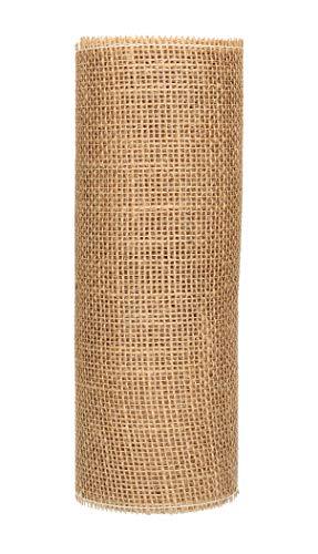 AmaCasa Eco Tischläufer Jute 30cm breit, 10m Rolle | gestärkter Jutestreifen mit kompostierbarem Etikett | Tischband für wundervolle Dekorationen (Natur - Braun, 30cm/10m) - 5