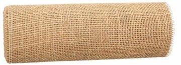 AmaCasa Eco Tischläufer Jute 30cm breit, 10m Rolle | gestärkter Jutestreifen mit kompostierbarem Etikett | Tischband für wundervolle Dekorationen (Natur - Braun, 30cm/10m) - 6