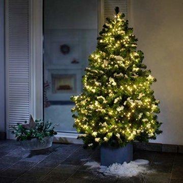 AMARE Baumlichterkette 400 LED warmweiß 5 Stränge mit Gesamtlänge 7,5m (zzgl. 3,25 m Zuleitung), CE + GS geprüft, für den Innen- und Außenbereich, 8 Leuchtmodi/Timer - 3