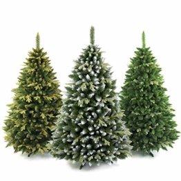 AmeliaHome 07874 120 cm Künstlicher Weihnachtsbaum PVC Tannenbaum Christbaum Kiefer Diana Weihnachtsdeko - 1