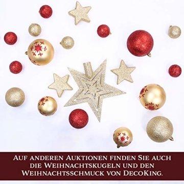 AmeliaHome 07898 180 cm Künstlicher Weihnachtsbaum PVC Tannenbaum Christbaum Kiefer Diana Weihnachtsdeko - 3