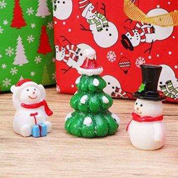 Amosfun 13 stücke Weihnachten Miniatur Ornamente Desktop Handwerk Micro Landschaft Harz Weihnachten X'Mas Decor kleine Ornamente schneemann weihnachtsmann Weihnachtsbaum(zufällig) - 2