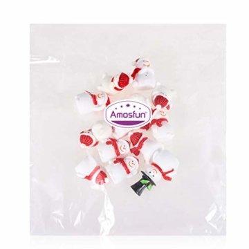 Amosfun 13 stücke Weihnachten Miniatur Ornamente Desktop Handwerk Micro Landschaft Harz Weihnachten X'Mas Decor kleine Ornamente schneemann weihnachtsmann Weihnachtsbaum(zufällig) - 3