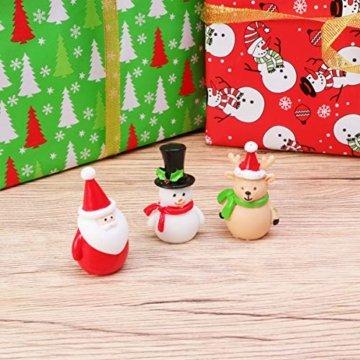 Amosfun 13 stücke Weihnachten Miniatur Ornamente Desktop Handwerk Micro Landschaft Harz Weihnachten X'Mas Decor kleine Ornamente schneemann weihnachtsmann Weihnachtsbaum(zufällig) - 4
