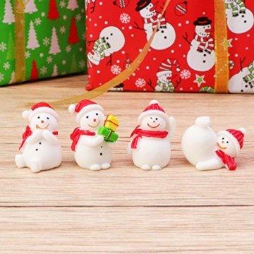 Amosfun 13 stücke Weihnachten Miniatur Ornamente Desktop Handwerk Micro Landschaft Harz Weihnachten X'Mas Decor kleine Ornamente schneemann weihnachtsmann Weihnachtsbaum(zufällig) - 7