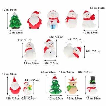 Amosfun 13 stücke Weihnachten Miniatur Ornamente Desktop Handwerk Micro Landschaft Harz Weihnachten X'Mas Decor kleine Ornamente schneemann weihnachtsmann Weihnachtsbaum(zufällig) - 9