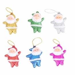 Amosfun 48 stücke Glitter Mini Santa Ornamente Weihnachten hängen anhänger Charme für Tasche schlüssel Telefon weihnachtsbeutelfüller Partei liefert - 1
