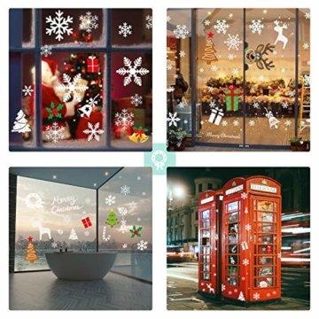 AmzKoi Fensterbilder Weihnachten Selbstklebend, Weihnachten Fenstersticker Winter Deko Weihnachtsdeko,Fensterbilder Weihnachten Wiederverwendbar - 2