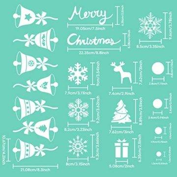AmzKoi Fensterbilder Weihnachten Selbstklebend, Weihnachten Fenstersticker Winter Deko Weihnachtsdeko,Fensterbilder Weihnachten Wiederverwendbar - 3