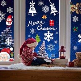 AmzKoi Fensterbilder Weihnachten Selbstklebend, Weihnachten Fenstersticker Winter Deko Weihnachtsdeko,Fensterbilder Weihnachten Wiederverwendbar - 1