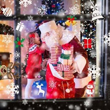 AmzKoi Fensterbilder Weihnachten Selbstklebend, Weihnachten Fenstersticker Winter Deko Weihnachtsdeko,Fensterbilder Weihnachten Wiederverwendbar - 7