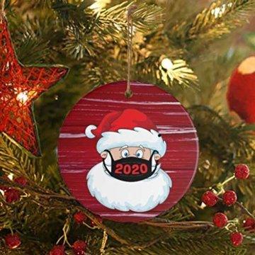 Ansenesna Weihnachten Anhänger Holz Figuren Klein Elch Schneemann Weihnachtsmann Weihnachtsbaumschmuck Holzanhänger Holzfiguren Deko Christmas Schmuck (T1) - 4