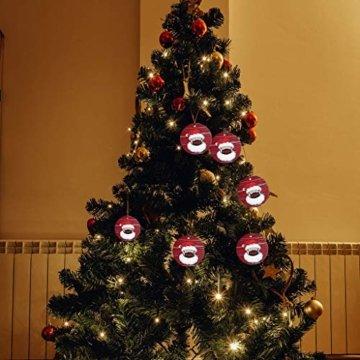 Ansenesna Weihnachten Anhänger Holz Figuren Klein Elch Schneemann Weihnachtsmann Weihnachtsbaumschmuck Holzanhänger Holzfiguren Deko Christmas Schmuck (T1) - 5