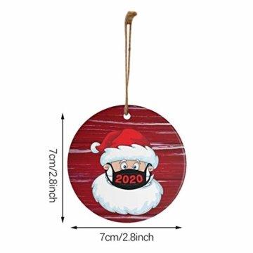 Ansenesna Weihnachten Anhänger Holz Figuren Klein Elch Schneemann Weihnachtsmann Weihnachtsbaumschmuck Holzanhänger Holzfiguren Deko Christmas Schmuck (T1) - 6