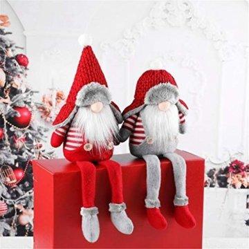 Ansenesna Wichtel Figuren Stehend Weihnachts Stoff Zwerge Weihnachten Schmuck Deko Niedlich Weihnachtspuppe - 2